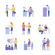 Office concept business people vector illustration flat design.
