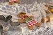 Making gingerbread men over wheat flour