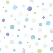 Pattern Swatch, Polka Dots On ...