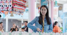 Woman Play Carnival Games