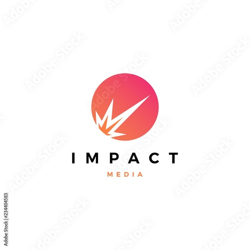 Obraz impact meteor logo vector icon illustration - fototapety do salonu
