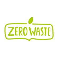 Zero Waste. Badge Vector Lettering Illustration On White Background.