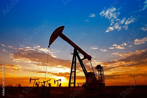 Fototapeta The oil pump, industrial equipment obraz