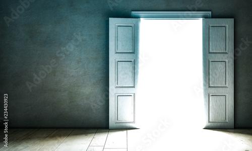 Fényképezés  Durch offene Tür schein Licht