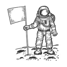 Astronaut Spaceman On Moon Eng...
