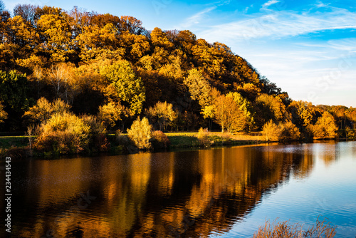 Herbst Landschaft Am Fluss Buy This Stock Photo And Explore Similar