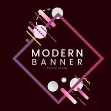 Modern Diamond Banner In Color...