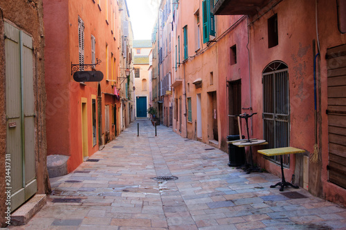Canvas Prints Narrow alley Street Scene, Bastia