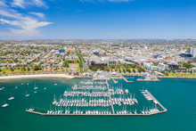 Aerial Photo Of Geelong In Victoria, Australia