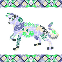 Creative Wolf Pattern Made Fro...