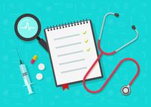 Medical Checklist Vector, Flat...
