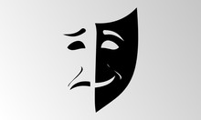 Theater Mask Isolated Illustration Character Tragedy Comedy
