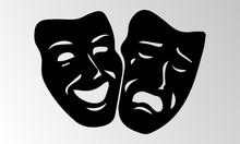 Theater Mask Isolated Illustra...