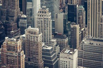 New York Stadtszene von oben