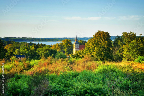 View of the old church in the small village of Benz on the island of Usedom Canvas Print