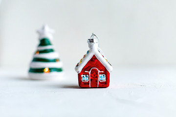 Colorful Christmas toys isolated Minimalism