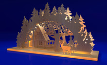 3d Rendering Wooden Candle Sta...