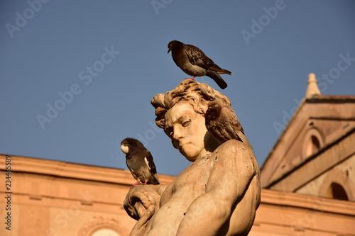 Fototapeta Monreale Fontana del Tritone detal obraz