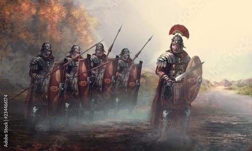 Roman soldiers and their general Slika na platnu