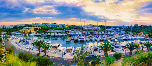 Panorama of Marina de Cala d`Or, Porto Cristo in Mallorca, Spain Canvas Print