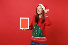 Pretty Young Santa Girl Keepin...