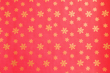 Wrapping Paper Pattern For Various Festive Occasions, Winter Holiday Season. Bright Textured Ornament Backdrop. Background, Copy Space, Top View, Crop Shot.