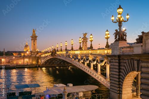 Pont Alexandre III w Paryżu, Francja