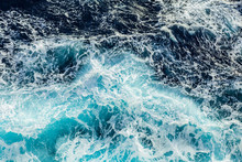 Sea Waves And Foam From A Cruise Ship