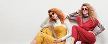 Two Gorgeous Girl In Fashion O...
