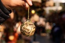 Dollar Ball In A Christmas Market