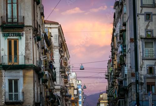 Street in Naples Italy