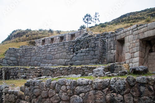Fotografie, Obraz  Ancient Inco stonework and buildings near Cuzco, Peru