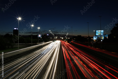Foto op Plexiglas Nacht snelweg Long Exposure Highway