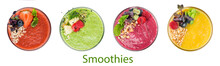 Set Of Smoothies Isolated On W...