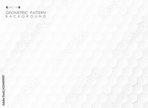Abstract of technology pentagonal shapes of layers and shadow background.