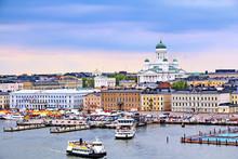 Helsinki Cityscape With Helsin...