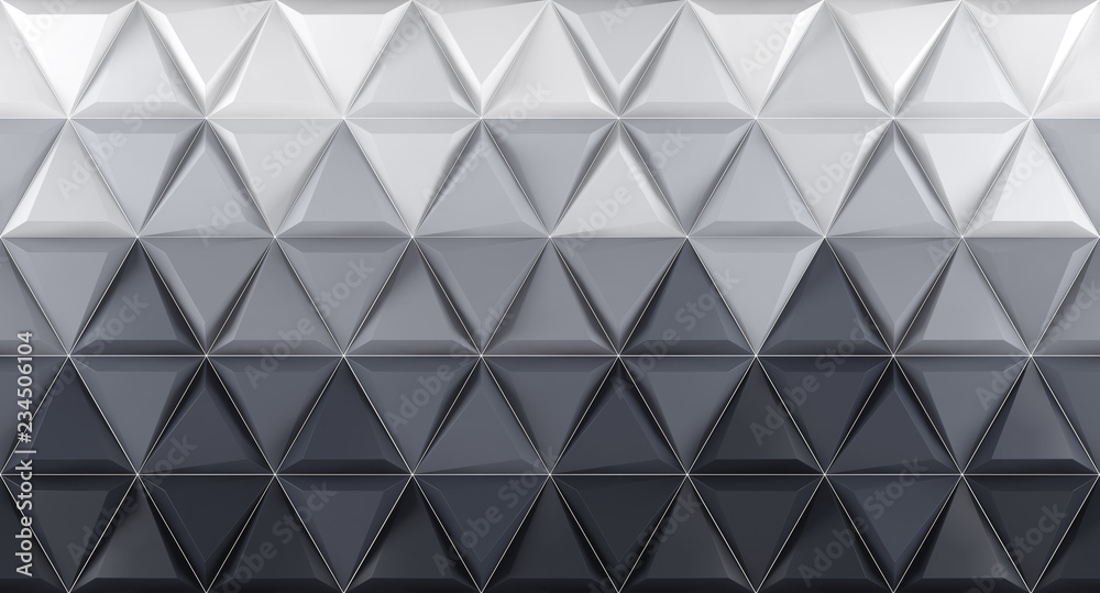 White and grey background texture. 3d render