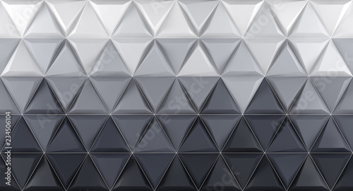 White and grey background texture. 3d render - 234506104