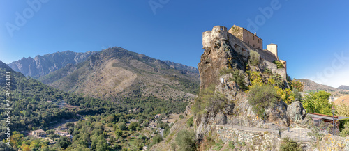 Fotografie, Obraz  Citadel of Corte (Corsica) - panoramic view