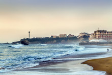 Waves On The Beach In Biarritz...