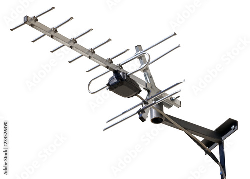Fotografie, Tablou TV antenna isolated on white
