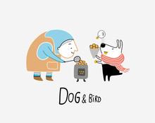 Dog & Bird And The Chestnut Se...