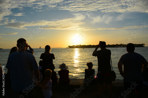 In de dag Duiken KEY WEST, FL, USA - APRIL 23, 2018: View of sunset from Mallory Square in Key West on the south of Florida