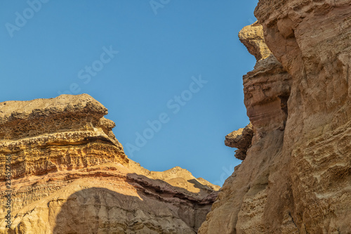Fotografie, Obraz  Canyons in the Namibe Desert. With sun. Africa. Angola