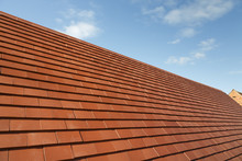 New Roof With Plain Clay Tiles