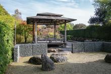 Beautiful Gazebo In A Modern Garden In A Park