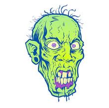 Thug Zombie Head