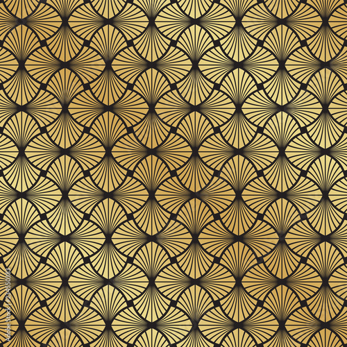 seamless-art-deco-black-and-gold-leaf-fan-pattern-background