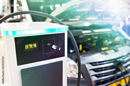 Foto  Electric charge station for cars