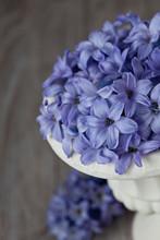 Blue Vintage Hyacinth Flowers